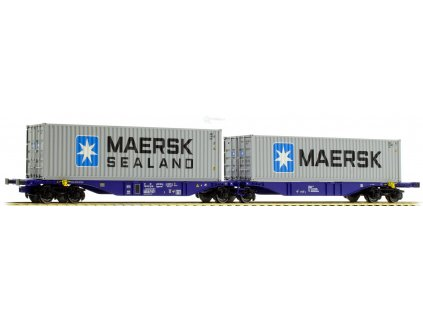 H0 - plošinový vůz Sggmrss90 s kontejnery MAERSK / A.C.M.E. 40274