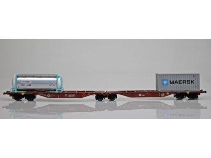 ARCHIV H0 dvojitý kontejnerový vůz ČD Sggmrss 90 Maersk nádrže/A.C.M.E. 40279
