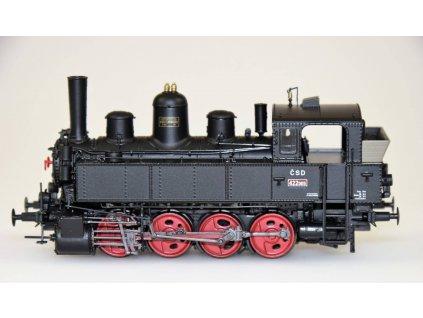 H0 - DCC/ZVUK/KOUŘ parní lokomotiva 422.0115 ČSD / Brawa 40794