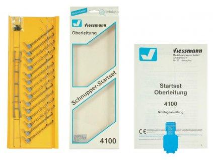 H0 - základní set trolejového vedení na ovál / Viessmann 4100