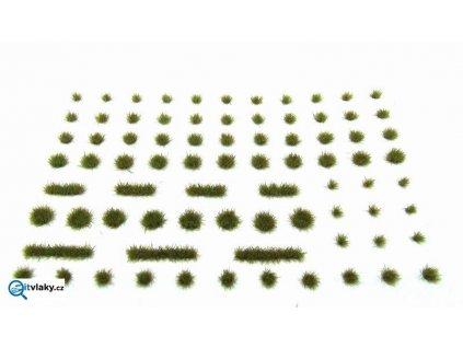 Travní drny - jemné - zelená a hnědá - B6 / Polák model 4116
