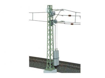 H0 - Trolejový stožár vrchního vedení, kladka, zátěž, 115 mm / Viessmann 4164