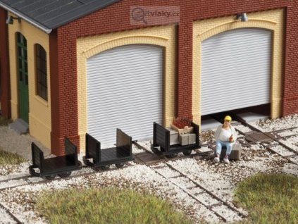 H0f - Atrapy vozíků s čelními stěnami 3 ks / Auhagen 41704