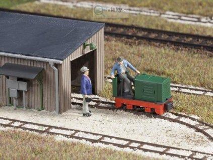 H0f - atrapa lokomotivy polní dráhy / Auhagen 41705