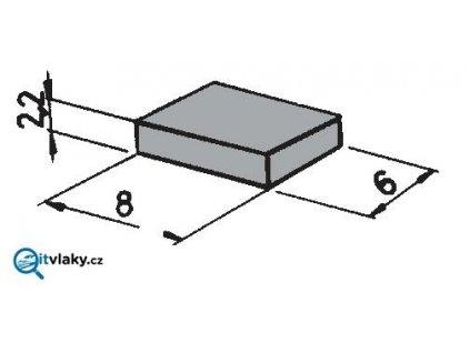H0 - magnet ke spínání umístěný pod lokomotivu - 1 ks / ROCO 42256