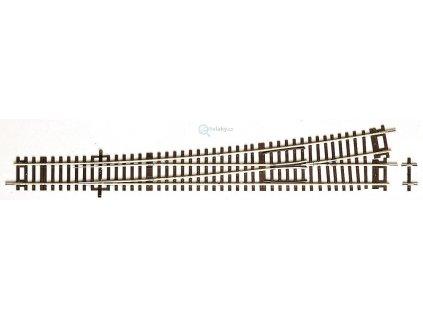 H0 - Roco Line výhybka Wl10 vlevo 345mm R1946 10° / ROCO 42488