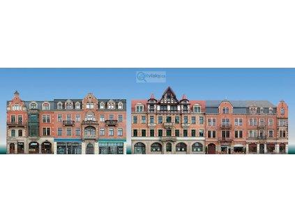 H0/TT - Set 5 kulis městských domů / Auhagen 42501