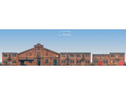 H0/TT - Set 6 kulis továrních budov / Auhagen 42506