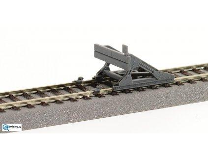 H0 - kolejové zarážedlo šedé, plastové + brzdové čelisti /  ROCO 42608