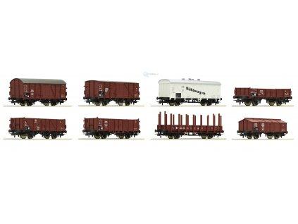 H0 - Set osmi nákladních vozů, DRG / ROCO 44003