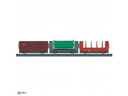 H0 - set 3 ks nákladních vozů - my world - od 3 let / Marklin 44100