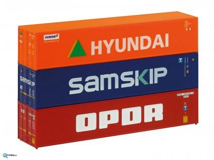 TT Set tří kontejnerů 40´ Hyundai atd. /PIKO 46101