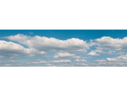 """H0 - Pozadí """"mraky"""", ve 2 částech 266 x 80 cm / Vollmer 46105"""