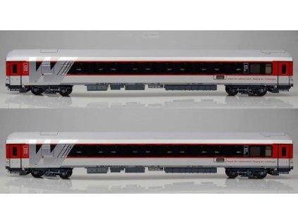 H0 - set 2 lůžkových vozů RŽD Wagonservice Travel / LS Models 48013