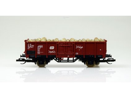 TT - otevřený nákladní vůz Es s nákladem kulatiny, ČD Cargo / Tillig 501479