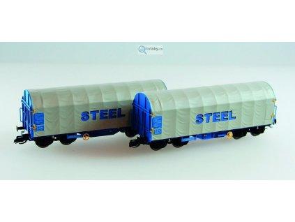 TT - set 2 plošinových vozů ÖBB s nápisem STEEL/ KUEHN 51132