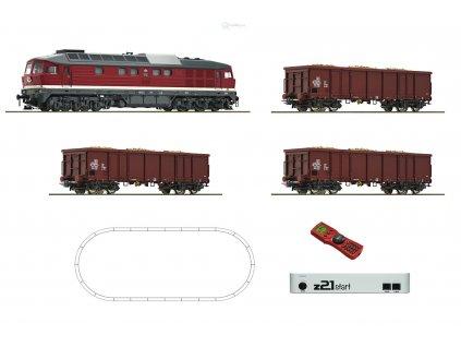 H0 - DCC start set lokomotiva BR 132 DR, z21start + MultiMaus / ROCO 51292