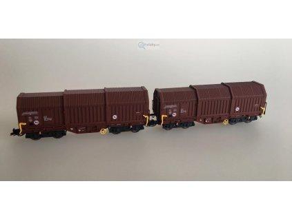 TT - Set 2 vozů s posuvnými stěnami, DR / Kuehn 51332