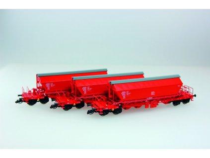 TT  - Set 3 vozů pro přepravu sypkých hmot řady Taoos 894 / Kuehn 51452