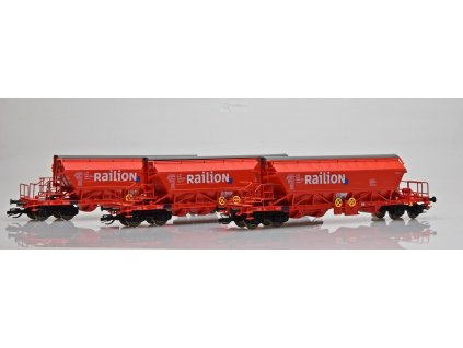 TT  - set 3 vozů pro přepravu sypkých hmot Taoos 894 Railion / Kuehn 51454