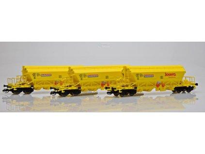 TT  - set 3 vozů pro přepravu sypkých hmot Taoos 894 Nacco/ Kuehn 51456s