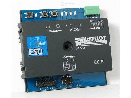 ESU - dekodér SwitchPilot Servo V2.0 pro 4 serva, RailCom / ESU 51822
