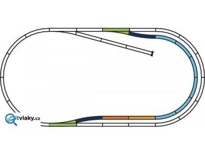 H0 - Set kolejí C, obloukové nádraží  A-Gleis / PIKO 55320
