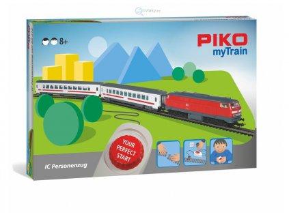 H0 - myTrain START SET- Dieselová lokomotiva BR218 + 2 osobní vozy / PIKO 57095
