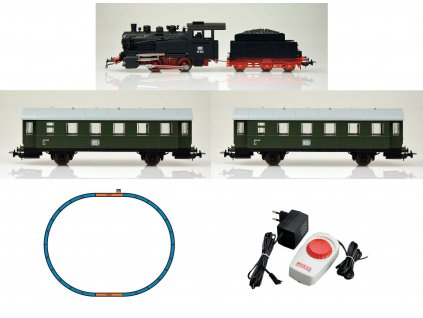 SLEVA! H0 - Startset HOBBY s parní lokomotivou a osobními vozy / PIKO 57110