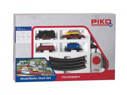 H0 - START SET parní lokomotiva + 3 vozy / Piko 57111