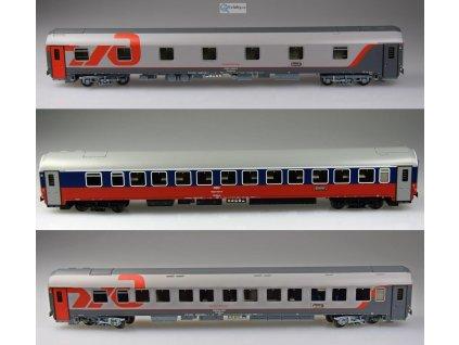 AKCE! TT - set tří vozů Moskva - Bohumín - Nice, ŘŽD / LS Models 58029 EPV