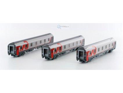 TT - set tří vozů WLABmz RŽD Moskva - Bohumín - Nice / LS Models 58036 LEMKE