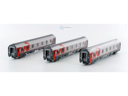 TT - set tří vozů WLABmz RŽD Moskva - Varšava / LS Models 58038