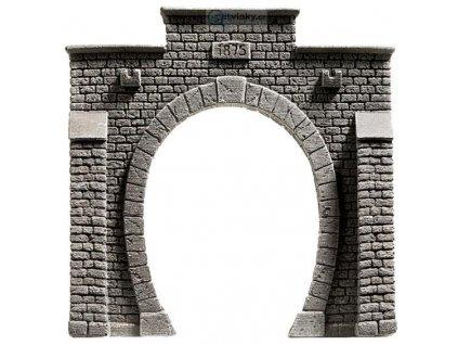 H0 - Tunelový portál jednokolejný kamenný / NOCH 58051