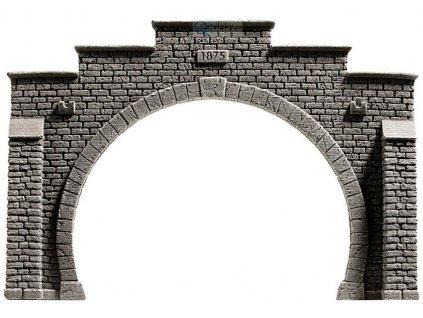 H0 - Tunelový portál dvoukolejný kamenný / NOCH 58052