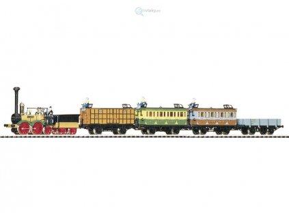 H0 - historický parní vlak SAXONIA / PIKO 58105