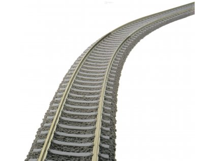 H0 - Flexibilní kolej s betonovými pražci a podložím, 800 mm / Fleischmann 6109