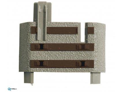 H0 -  Set 6 koncovek a 12 spojek k ukončení flexi kolejí GeoLine / ROCO 61183
