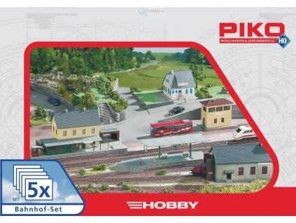 """H0 - Akční set budov """"Nádraží"""" / Piko 61923"""