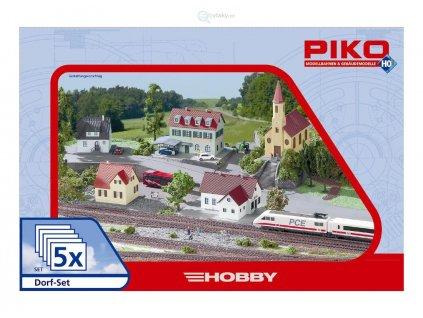 """H0 - Akční set pěti staveb """"vesnice"""" / PIKO 61925"""