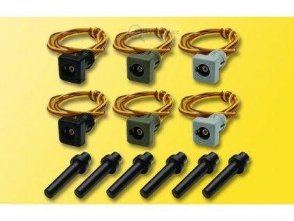 H0 - Objímky pro lampičky s podstavcem, 6 ks / Viessmann 6806