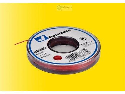 Kabel na cívce červený 25 m 0,14 mm / Viessmann 68633