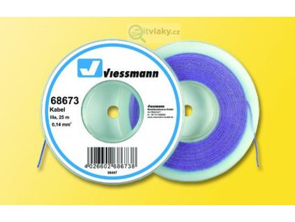Kabel na cívce fialový 25 m / Viessmann 68673