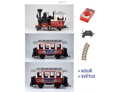 ARCHIV G - Start set - vánoční vlak, kouřící lokomotiva  / LGB 70304