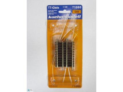 TT - G60 rovná kolej 60,5 mm, 6 ks / KUEHN 71060