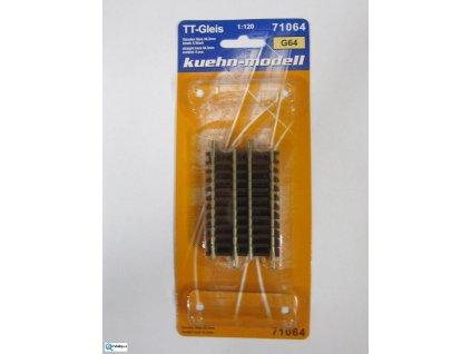 TT - G64 rovná kolej 64,3 mm, 6 ks / KUEHN 71064