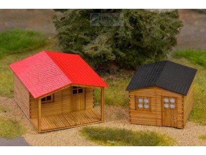 TT - set dvou zahradních domků - LASERCRAFT / Krois Modell 72-001