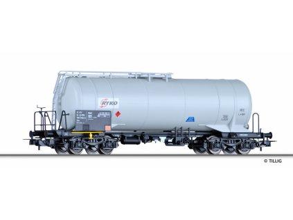 """AKCE! H0 - Cisternový vůz Zas """"RYKO PLUS s.r.o."""" CZ / Tillig 76648"""