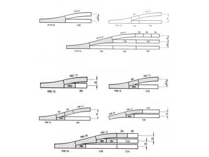 N - elektrická výhybka levá 15° 186mm / KATO 20-202