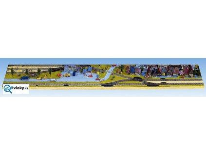 H0 - rozšíření kolejiště přední díl 220 x 40 cm / NOCH 80101